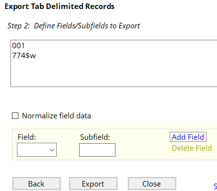 Export Tab Delimited Records in MarcEdit, Step 2