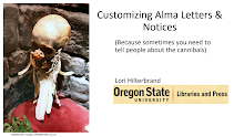 First slide of Customizing Alma Letters & Notices